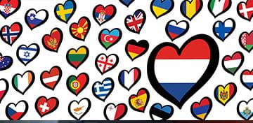 Billet de blog sur les paris sur l'Eurovision Carte de l'UER