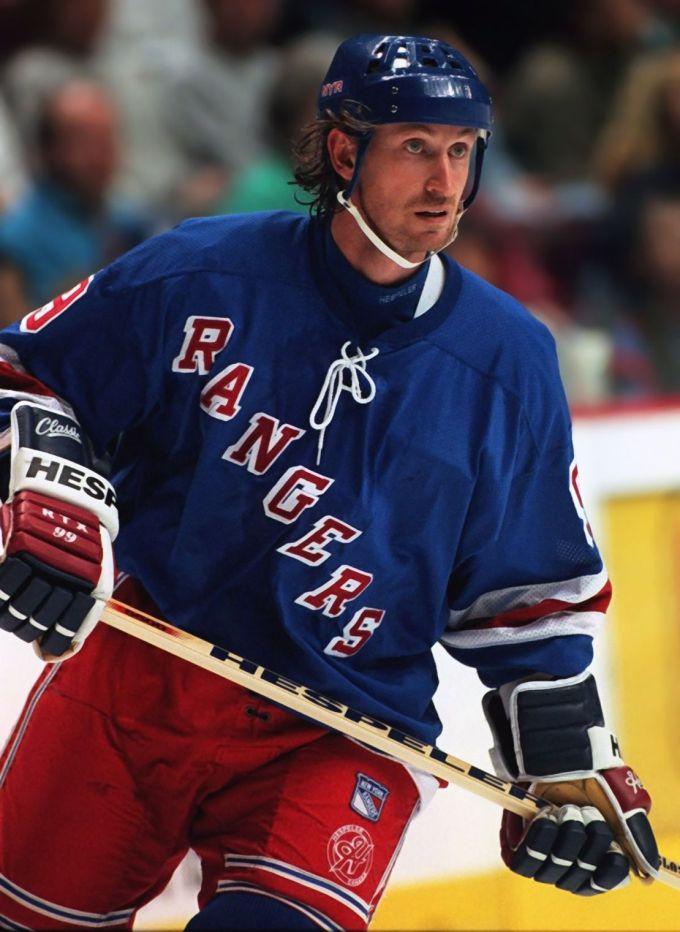 Wayne Gretzky des Rangers de New York en 1997 - Le plus grand joueur de hockey