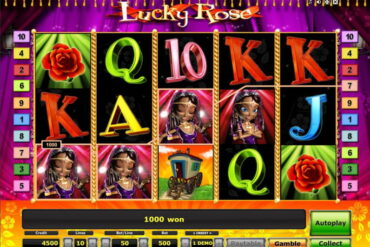 L'interface de Lucky Rose de Novomatic