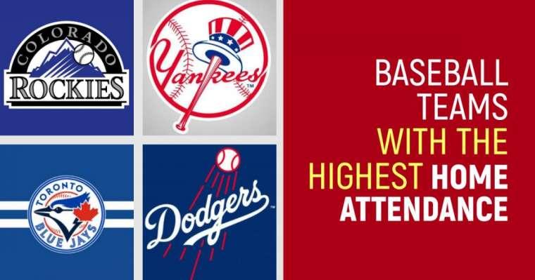 Top 10 des équipes de baseball avec la plus grande fréquentation à domicile
