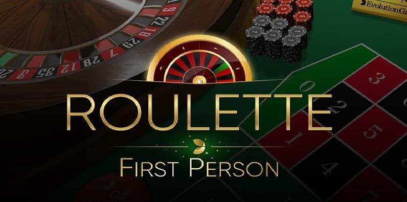 Roulette à la première personne par Evolution