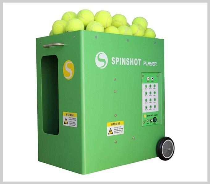 Machine à balles de tennis Spinshot-Player avec télécommande de téléphone prise en charge